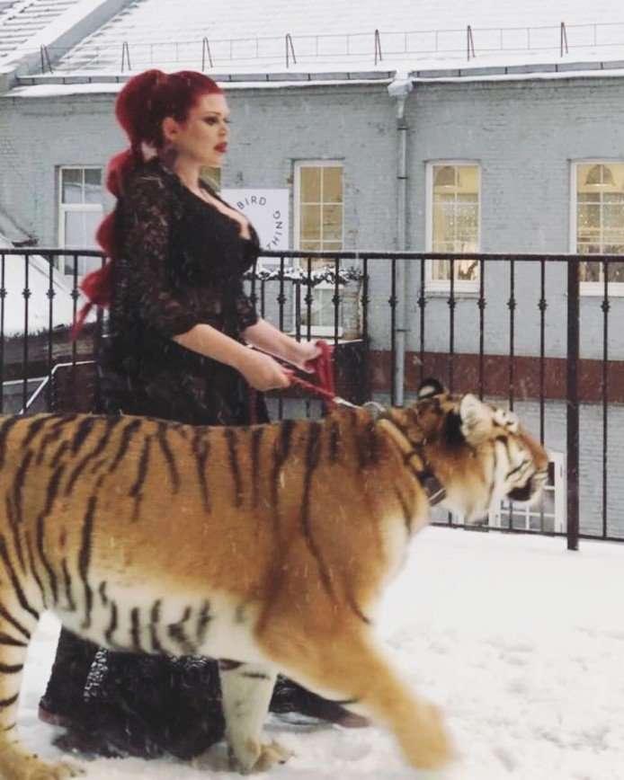 Пышнотелую модель и певицу Юлию Рыбакову обвинили в жестоком обращении с животными