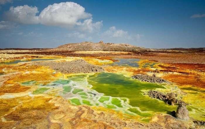 Неземные пейзажи вулкана Даллол