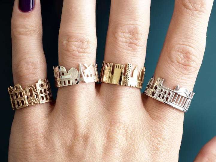 Архитектурные кольца от Олы Шехтман
