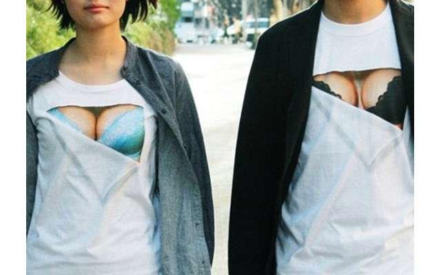 Создана футболка с эффектом пышной груди