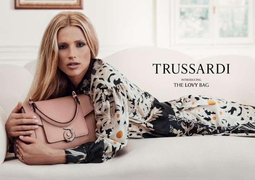 Мишель Хунцикер в новой рекламной кампании Trussardi