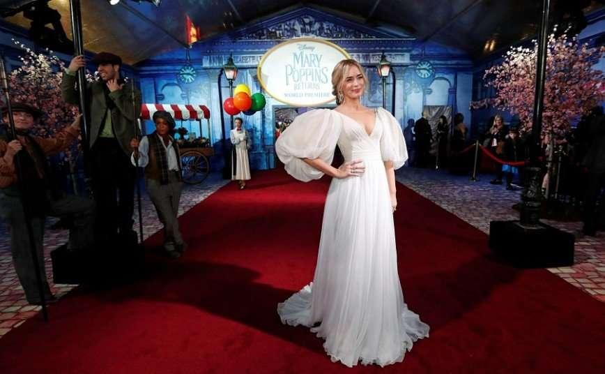 Эмили Блант посетила кинопремьеру в платье российского дизайнера