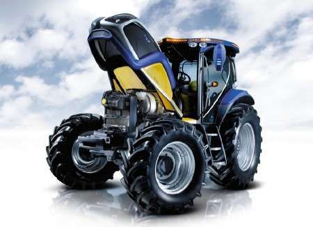 Зеленый трактор NH2 от New Holland