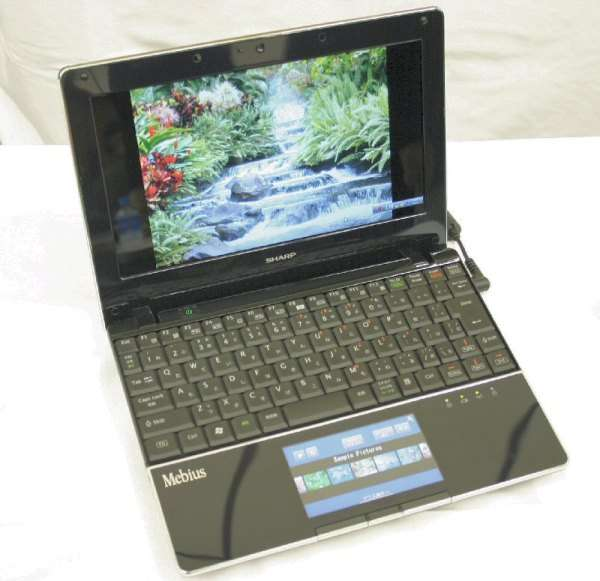 Ноутбук с цветным LCD-трекпадом Sharp PC-NJ70A